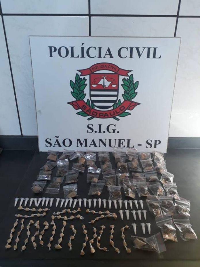 SIG de São Manuel apreende 179 porções de diferentes tipos de entorpecentes