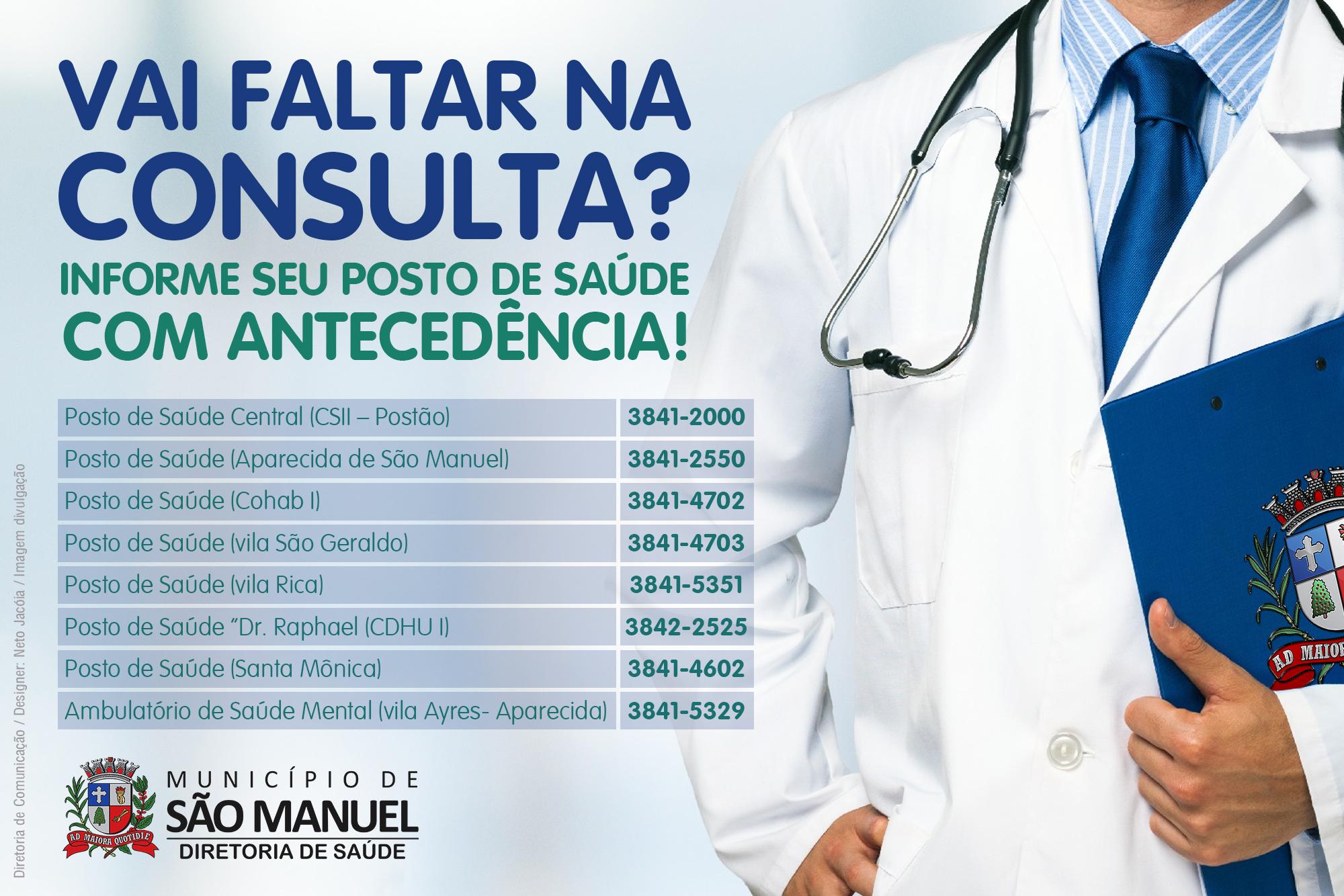 Diretoria de Saúde tenta reverter alto índice de faltas em consultas