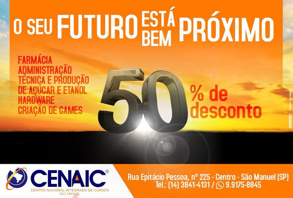 CENAIC oferece bolsa auxílio de 50% até o fim de agosto