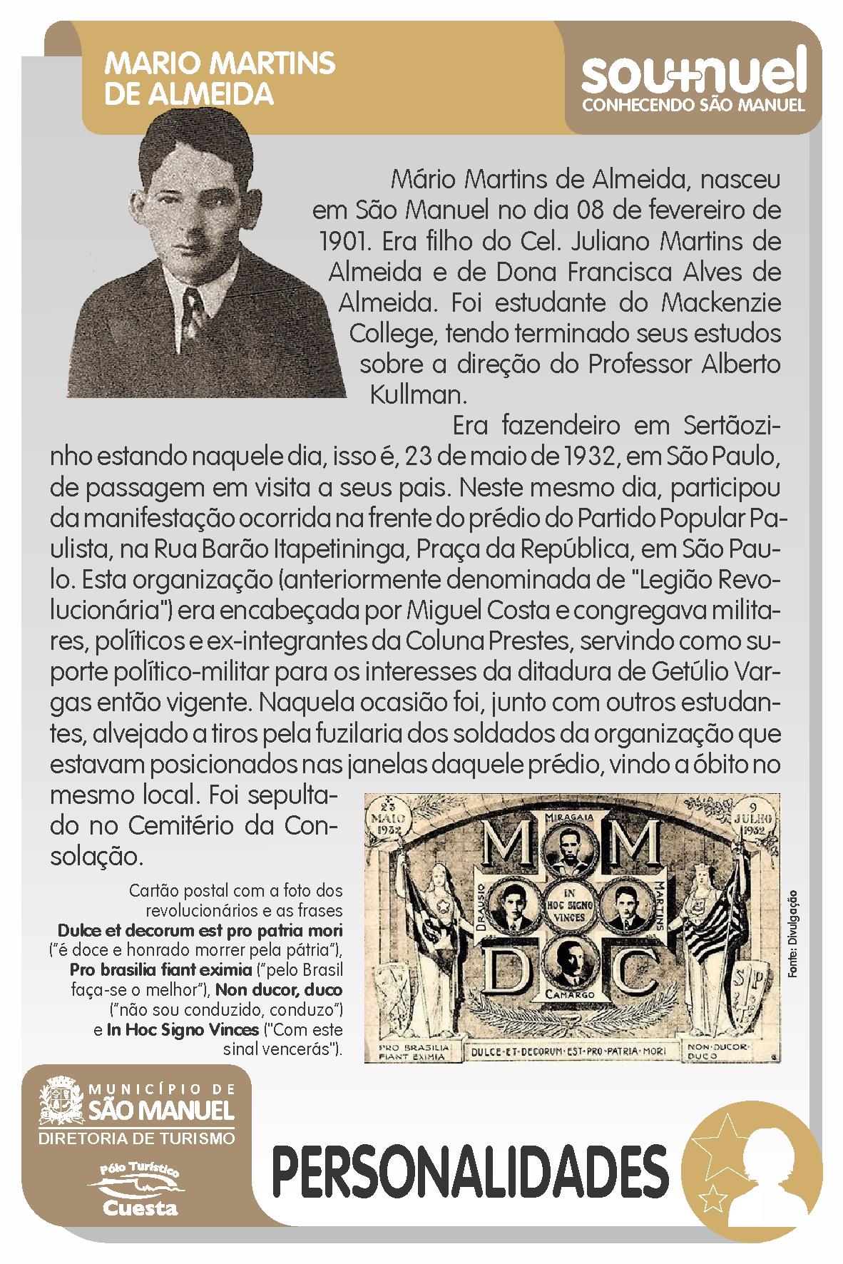 Sou+Nuel: TRAJETÓRIA DE MÁRIO MARTINS DE ALMEIDA