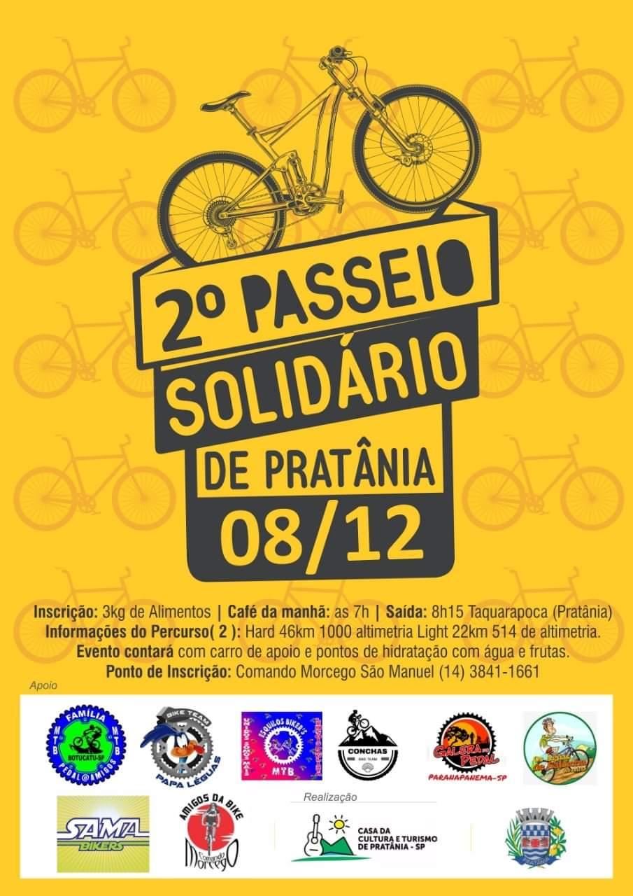 Pratânia realizará 2° pedal solidário