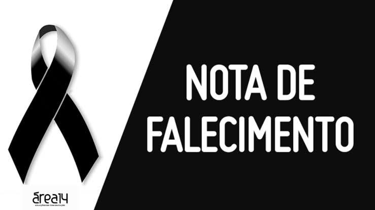 Nota de falecimento Iolanda de Araujo Oliveira