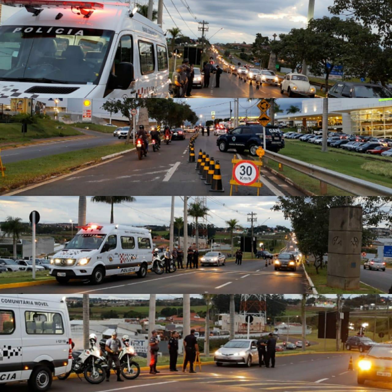 Botucatu: Polícia para automóveis e mede temperatura das pessoas