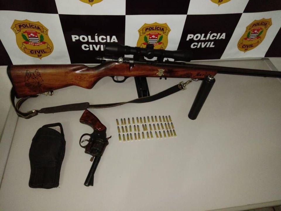 Polícia Civil apreende  armas em área rural de São Manuel