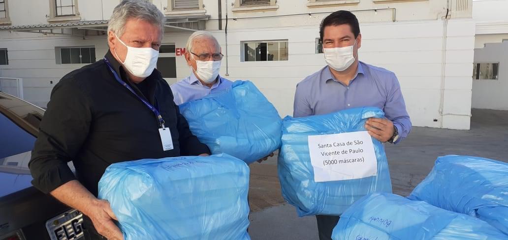 SENAI faz doação de mais de 5 mil máscaras cirúrgicas ao hospital de São Manuel
