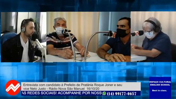 Roque Joner e Neto Justo participam do Tribuna Livre
