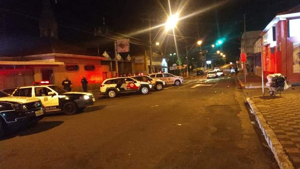 Forças policiais dispersam Palmeirenses em São Manuel
