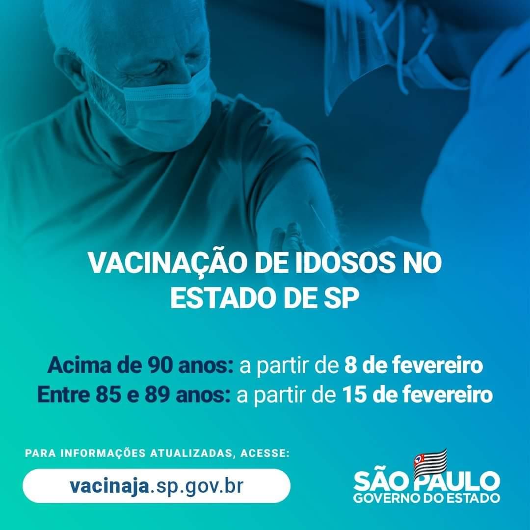 São Manuel inicia nesta quinta-feira vacinação em população de 85 a 89 anos
