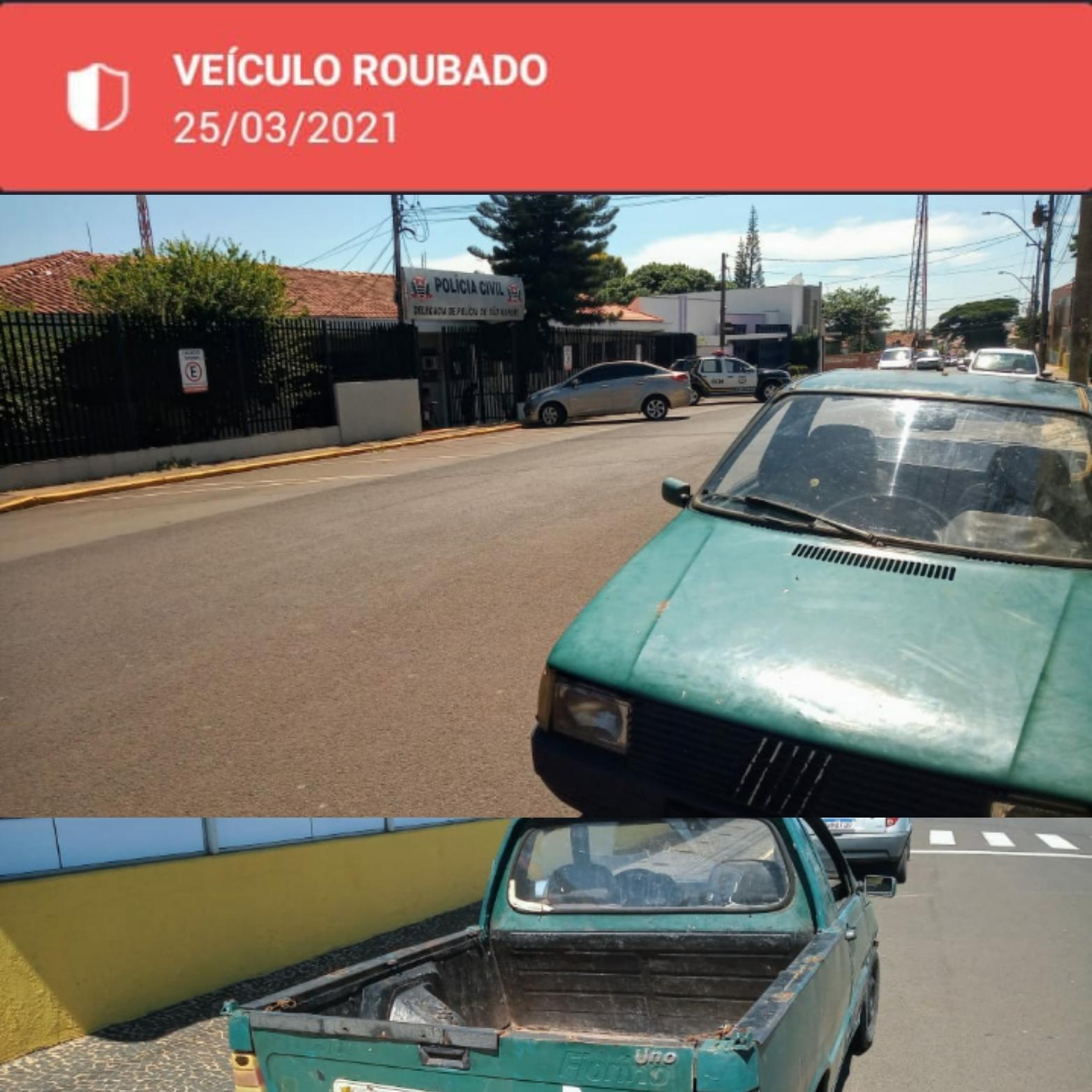GCM recupera veículo furtado em São Manuel