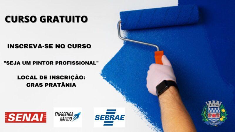 Pratânia oferece curso Pintura e Pequenos Reparos em Edificações