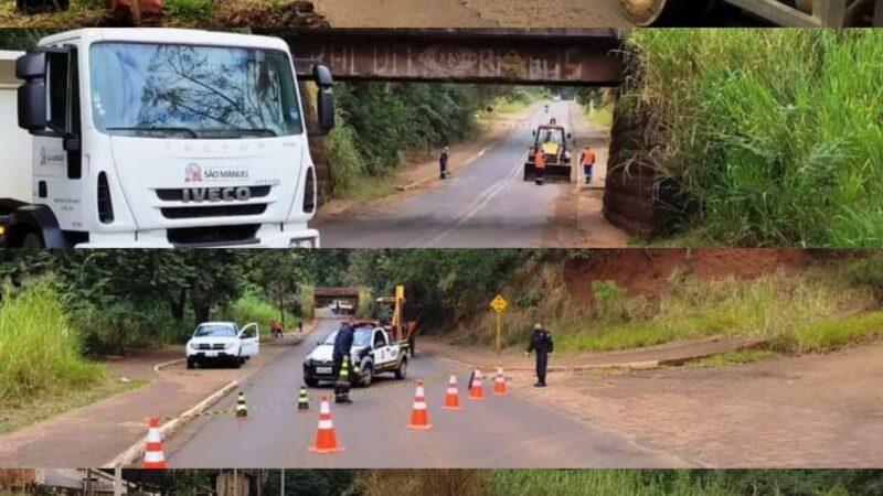 Prefeitura de São Manuel interdita parcialmente acesso a vila São Geraldo para melhorias