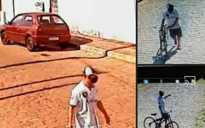 Câmera flagra furto a residências em plena luz do dia no centro de São Manuel