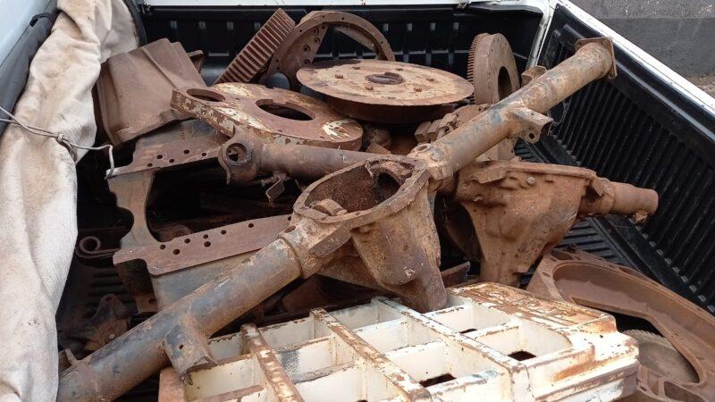Polícia Civil de Manuel recupera 02 toneladas de material furtado