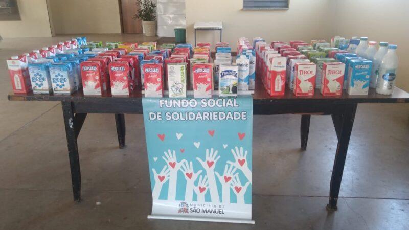 Grupo do Câncer recebe doações de leite