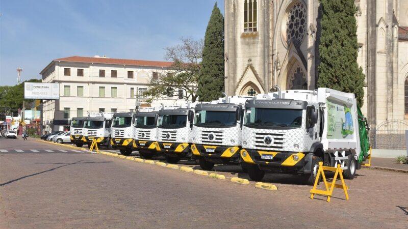 Coleta de lixo em Botucatu será feita por caminhões 0km
