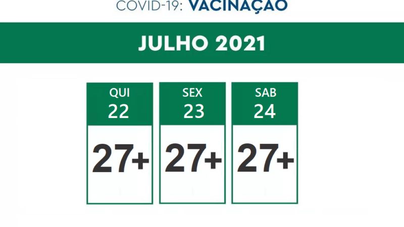 São Manuel vacinará população de 27 a 29 anos a partir de quarta-feira