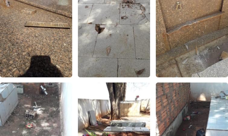 Polícia localiza responsáveis por danos a túmulos no cemitério de Pratânia