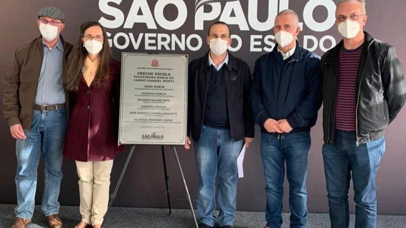 Salaro convida família Monti para inauguração de creche em São Manuel