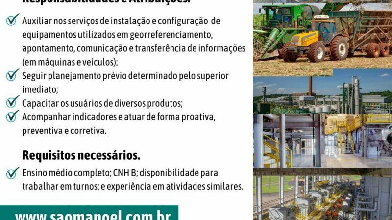 Confira oportunidades de emprego oferecidas pela Usina São Manoel