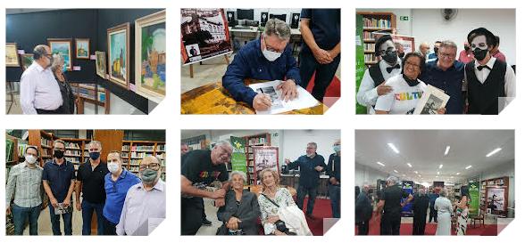 Noite de autógrafos e vernissage movimentam a cultura de São Manuel